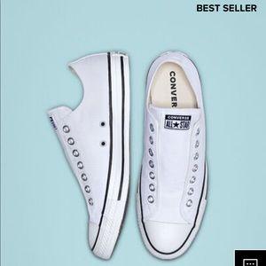 White Slip On Converse